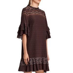Allsaints Rayen Anokhi Silk Dress Size Medium